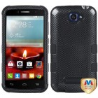 Alcatel One Touch Fierce 2 Carbon Fiber/Black Hybrid Phone Protector Cover