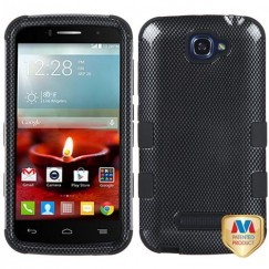 Alcatel One Touch Fierce 2 Carbon Fiber/Black Hybrid Case