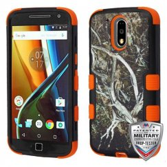 Motorola Moto G4 / Moto G4 Plus Yellow/Black Vine/Orange Hybrid Case Military Grade Certified