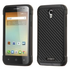 Alcatel One Touch Elevate Carbon-Fiber Backing/Black Astronoot Case
