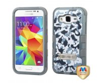 Samsung Galaxy Core Prime Urban Camouflage/Iron Gray TUFF Hybrid Phone Protector Cover (with Stand)