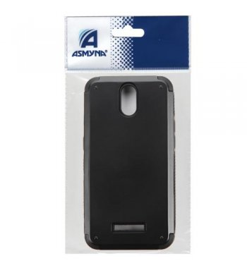 ZTE Obsidian Black Inverse Advanced Armor Stand Case with Card Wallet