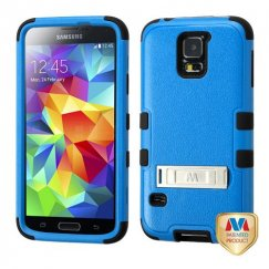 Samsung Galaxy S5 Natural Dark Blue/Black Hybrid Case with Stand