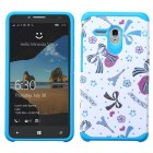 Alcatel One Touch Fierce XL Eiffel Towers/Ribbon/Blue Advanced Armor Protector Cover