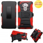 LG G Vista 2 Black/Red Advanced Armor Stand Protector Cover (With Black Holster)