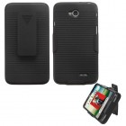 LG Optimus L70 Rubberized Black Hybrid Holster