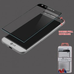 LG G5 Full Coverage Tempered Glass Screen Protector - Black