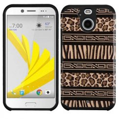 HTC Bolt Zebra Skin-Leopard Skin/Black Advanced Armor Case