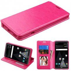 LG V20 Hot Pink Wallet with Tray