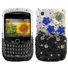 Blackberry 9300 Curve Cloudy Night Diamante Phone Protector Cover