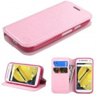 Motorola Moto E 2nd Gen Pink Wallet with Tray