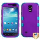 Samsung Galaxy S4 mini Rubberized Grape/Tropical Teal Hybrid Phone Protector Cover