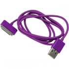 Apple 30 Pin iPhone/ iPad USB Color Series Data Cable, Purple