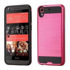 HTC Desire 555 Red/Black Brushed Hybrid Case