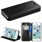 Apple iPhone 5c Black Wallet(with Tray)