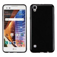 LG X Style / Tribute HD Glossy Jet Black Candy Skin Cover