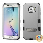 Samsung Galaxy S6 Edge Natural Gray/Black Hybrid Phone Protector Cover (with Stand)