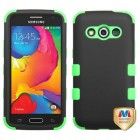 Samsung Galaxy Avant Rubberized Black/Electric Green Hybrid Phone Protector Cover