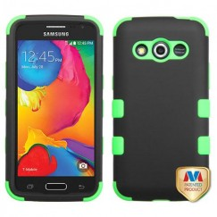 Samsung Galaxy Avant Rubberized Black/Electric Green Hybrid Case
