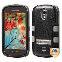 Samsung Galaxy Light Natural Black/Iron Gray Hybrid Case with Stand