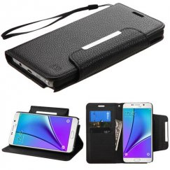 Samsung Galaxy Note 5 Black Wallet