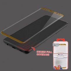 Samsung Galaxy S9 Plus Full Coverage Tempered Glass Screen Protector/Gold