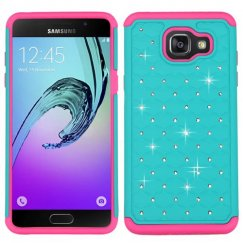 Samsung Galaxy A5 Teal Green/Electric Pink FullStar Case