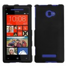 HTC Windows Phone 8x Black Phone Protector Cover(Rubberized)