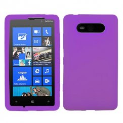 Nokia Lumia 820 Solid Skin Cover - Electric Purple