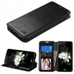 LG K7 Black Wallet with Tray