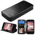 ZTE Maven / Overture 2 / Fanfare Black Wallet with Tray