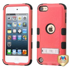 Apple iPod Touch (6th Generation) Natural Pink/Black Hybrid Case with Stand