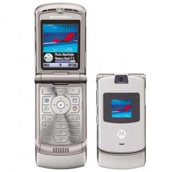 Motorola V3 RAZR Flip Phone for T-Mobile - Silver