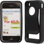 Apple iPhone 4 Silicon Skin with Clip, Black Color
