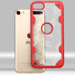 Apple iPod Touch (6th Generation) Transparent Clear/Red Challenger Hybrid Case