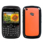 Blackberry 9300 Curve Solid Red/Solid Black Gummy Cover