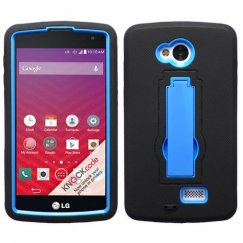 LG Tribute Dark Blue/Black Symbiosis Stand Case