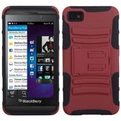 Blackberry Z10 Red/Black Advanced Armor Stand Case