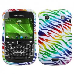 Blackberry Bold 9930 Colorful Zebra Case