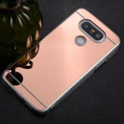 LG G5 Rose Gold/Transparent Clear Gummy Cover