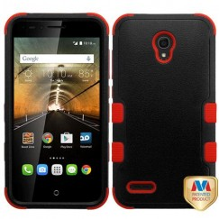 Alcatel One Touch Conquest Natural Black/Red Hybrid Case