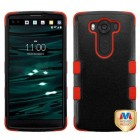 LG V10 Natural Black/Red Hybrid Phone Protector Cover