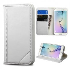 Samsung Galaxy S6 Edge White Genuine Leather Wallet