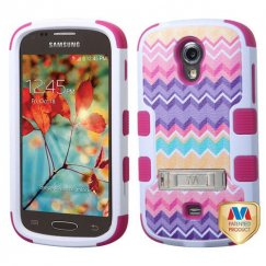 Samsung Galaxy Light Camo Wave/Hot Pink Hybrid Case with Stand