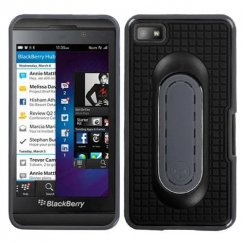 Blackberry Z10 Black Snap Tail Stand Case