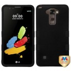 LG G Stylus 2 Rubberized Black/Black Hybrid Phone Protector Cover