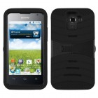 Huawei Premia 4G Black/Black Wave Symbiosis Case with Horizontal Stand
