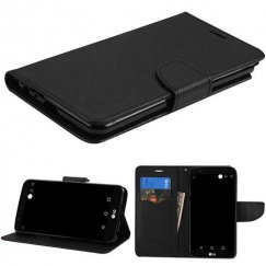 LG G Stylo 3 Black Pattern/Black Liner wallet with Card Slot