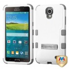 Samsung Galaxy Mega 2 Natural Cream White/Iron Gray Hybrid Phone Protector Cover (with Stand)