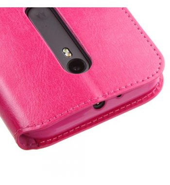 Motorola Moto G 3rd Gen Hot Pink Wallet with Tray
